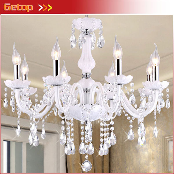 European K9 Crystal Lamps Home Lighting lustres de cristal Decoration White Crystal Pendant Lights Glass Living Room Indoor Lamp european crystal chandelier living room decoration home lighting luxury glass chandeliers hotel hanging lights indoor wall lamp