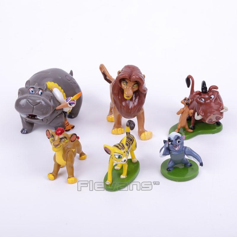 El Rey León Simba 6 unids/set PVC Figuras Juguetes para Niños Juguetes Para Niño
