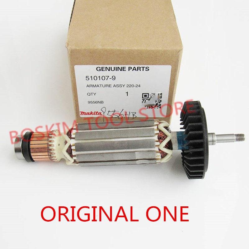 Armature Rotor for MAKITA 515613-9 518870-8 510107-9 9558NB 9556NB 9556HN 9558HN 9557NB 9557HN 9556HNG 9558NBR Anchor AC220-240V цена