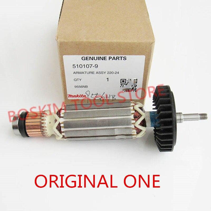 Armature Rotor pour MAKITA 515613-9 510107-9 9558HNR 9558NB 9556NB 9556HN 9558HN 9557NB 9557HN 9556HNG 9558NBR D'ancrage AC220-240V