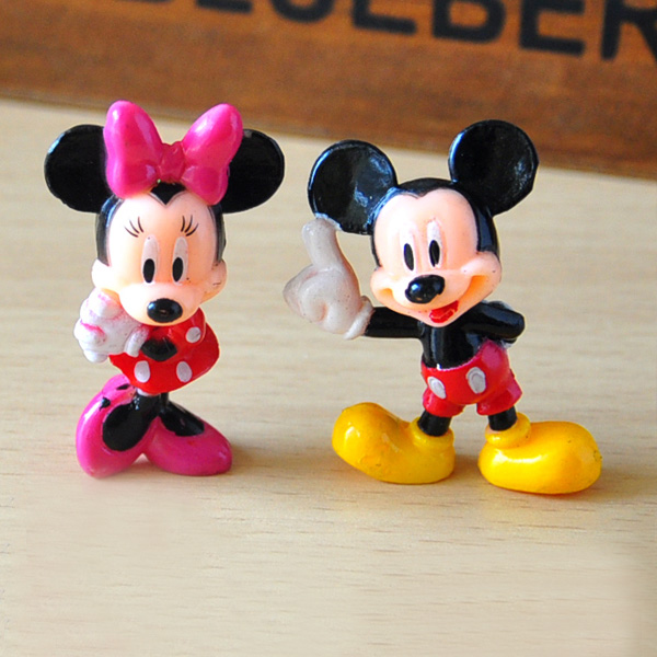 2pcs/lot 3cm Mickey Minnie Action Figures Toys Mini Mickey Clubhouse ...