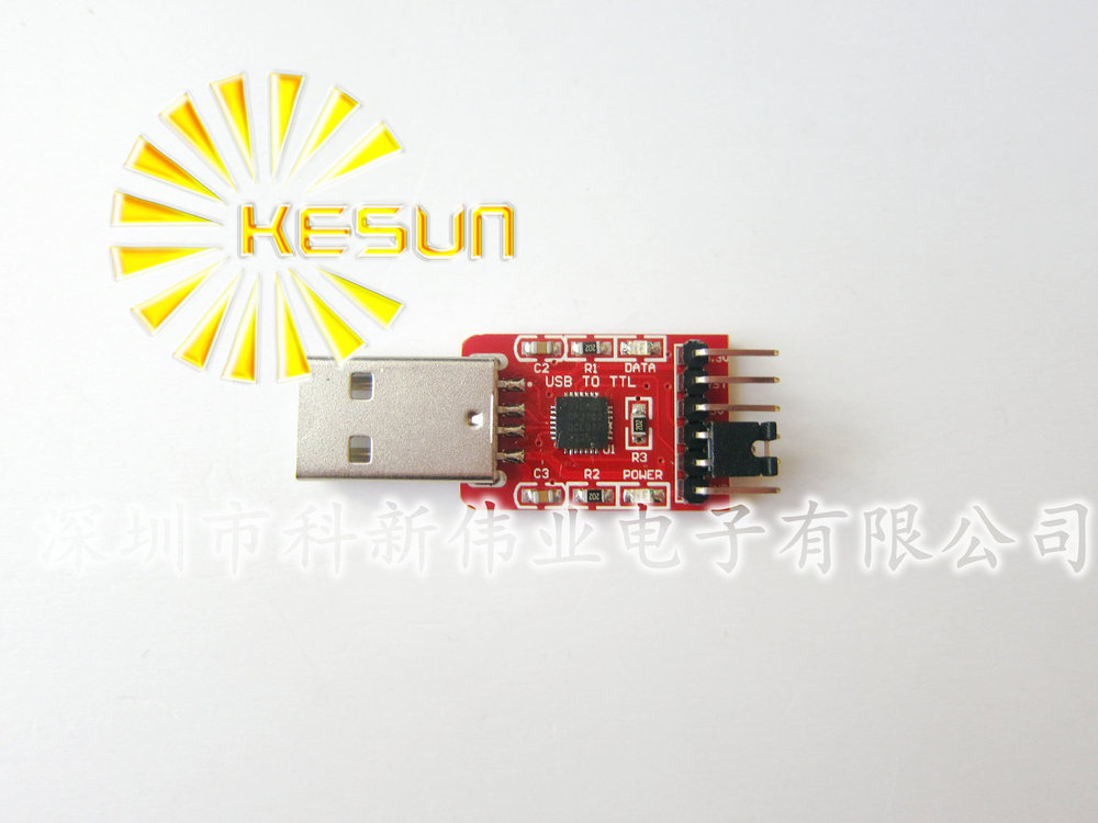 FREE SHIPPING 2PCS/LOT CP2102 USB 2.0 To UART TTL 6PIN Connector Module Serial Converter With Dupont Line