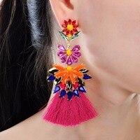 7 Colors JEROLLIN Shape of Earrings Tassel Round Drop Earrings for Women