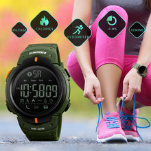 SKMEI Smart Watch Men Waterproof Bluetooth Calorie Pedometer Digital Multifunction Outdoor Sport Watches For Men Male