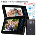 "Free shipping!7"" Doorbell Home Intercom Wired Video Door Phone Kit 2 Monitor HD Camera System"