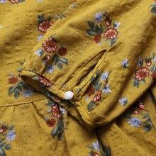 2018 ZANZEA Summer Boho Women O Neck Long Sleeve Blouse Casual Vintage Floral Print Cotton Linen Shirt Loose Top Plus Size