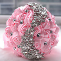 Bridal Bouquet Brooch Accessories Bridesmaid Rhinestones Pearl Wedding Supplies
