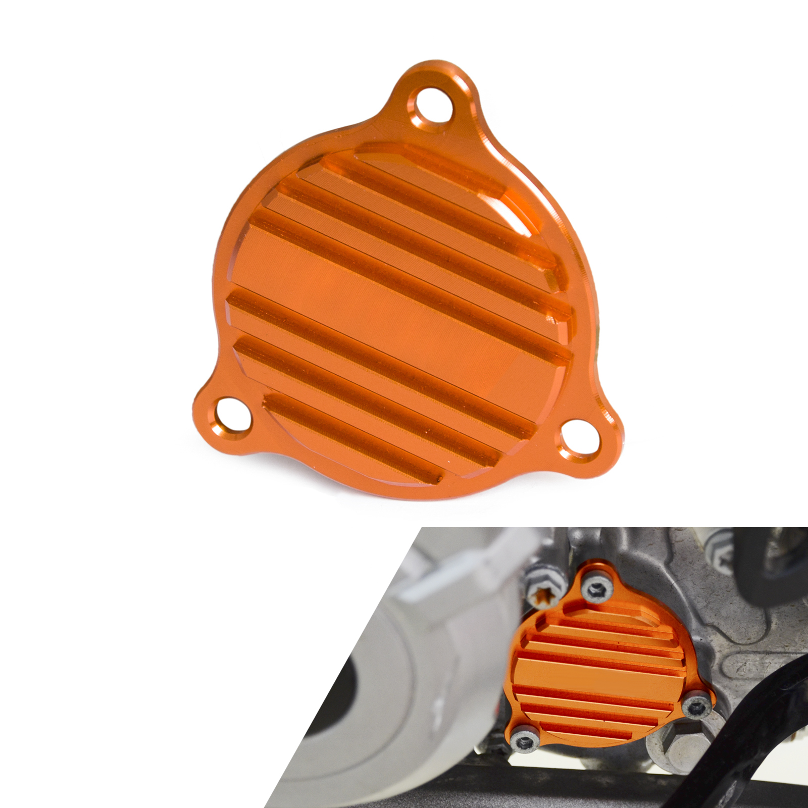 Motorcycle CNC Oil Pump Cover For KTM 250 350 450 500 530 SXF XCF XCW EXC Six Days XC-W 2014 2015 2016