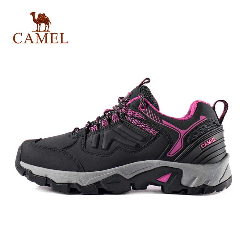 CAMEL Women Hiking Shoes Durable Anti Slip Casual Outdoor Breathable Comfortable Mountain Climbing Trekking Shoes