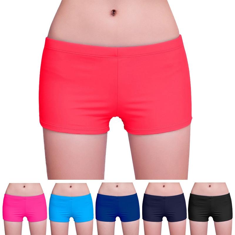 Women Shorts Swimwear Bottom Summer Beach Wear Workout Solid Shorts  XRQ88
