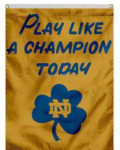 Notre Dame Play Like Champion Decorative Banner Garden Flag