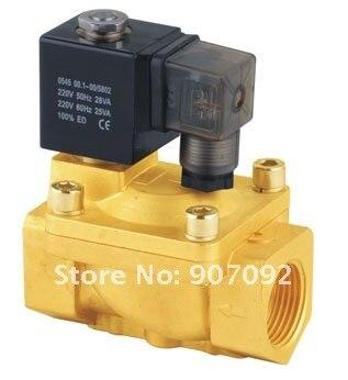 Высокое качество п направляющего клапана Электромагнитный PU225-06A G3/4 ''2-трехходовых электромагнитных клапанов 5 шт. в лоте