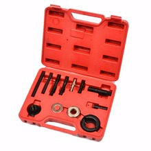 12pcs pulley puller kit Installer Remover Kit Power Steering Wheel Crankshaft Tools Pump Alternator+Case MAYITR