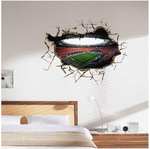 Us 17 85 6 Off 3d Wall Sticker World Cup Painting Kid S Room Wall Paintings Bedroom World Cup Wallpaper Home Football Wall Stickers In Wall Stickers