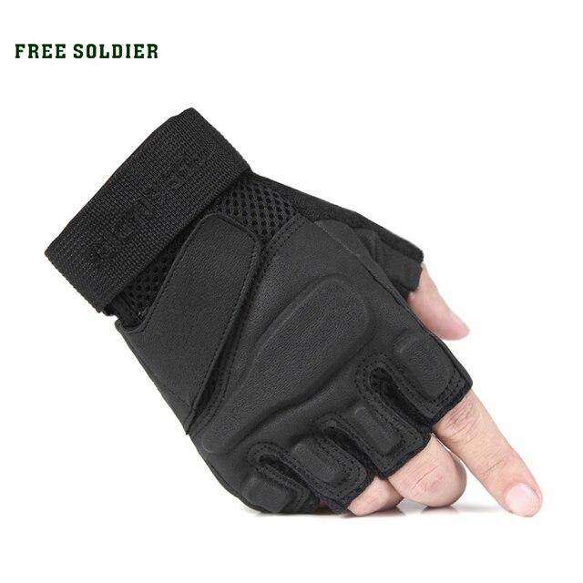 outdoor camping hiking climbing men tactical nylon gloves Wear non-slip riding half finger gloves Upgrade version FREE SOLDIER