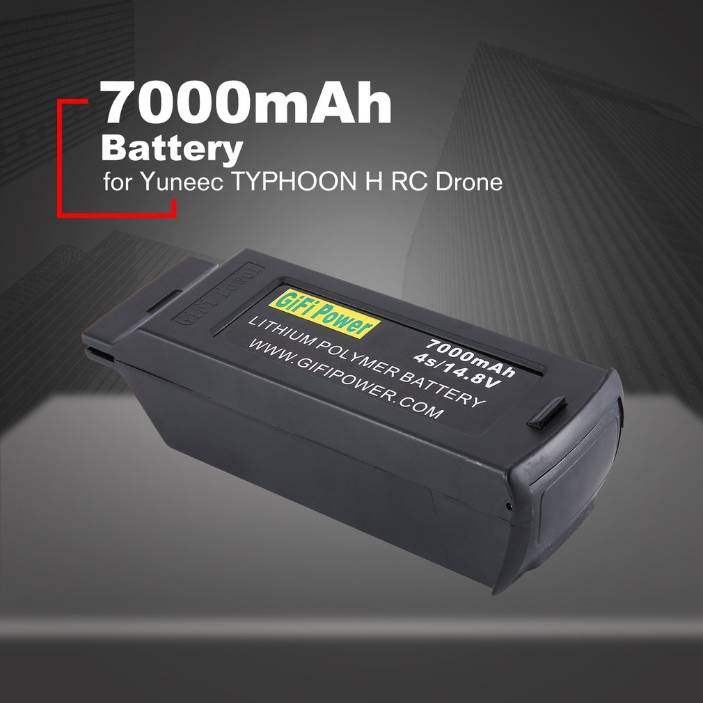 <font><b>7000mAh</b></font> Large Capacity Battery 14.8V <font><b>4S</b></font> Upgraded Replacement <font><b>Lipo</b></font> Battery Drone Battery For Yuneec Typhoon H H480 image