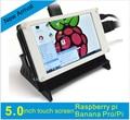 5 polegada TFT Módulo Display LCD com Controle de Toque USB para o Raspberry Pi B 3 B + Banana Pi Raspbian Pidora BB Preto linux