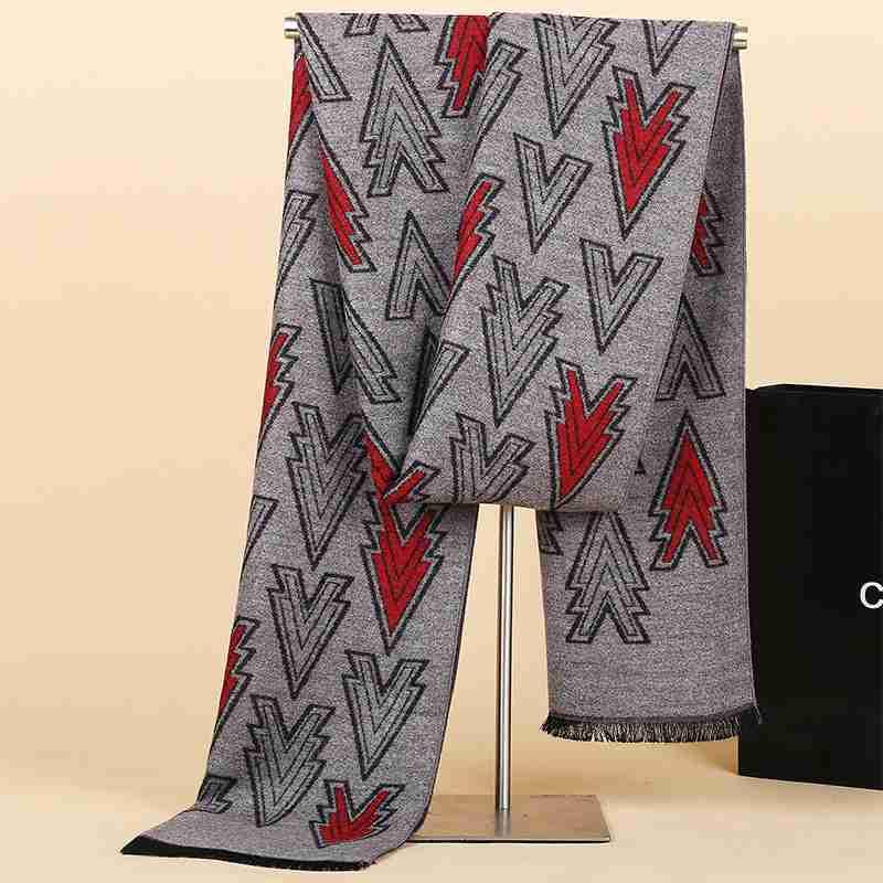 Chic Men Business Casual Cashmere Scarf Winter Luxury Brand font b Tartan b font Patchwork Echarpes