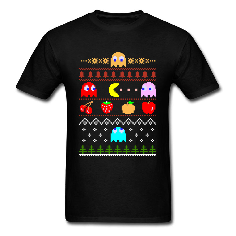 reputable site e0be6 2cfef Xmas-Gift-T-Shirt-Eat-Your-Christmas-Dots-T-shirts-Men-Funny-Tshirt-Pacman-Arcade-Top.jpg