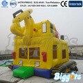 Camión Forma Casa Moonwalk Gorila Inflable Para Los Niños
