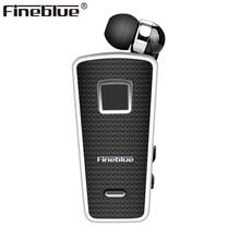 Новые Fineblue F970 Портативный Беспроводной Bluetooth шея клип на телескопического типа бизнес Спорт стерео наушники вибрации носить клип