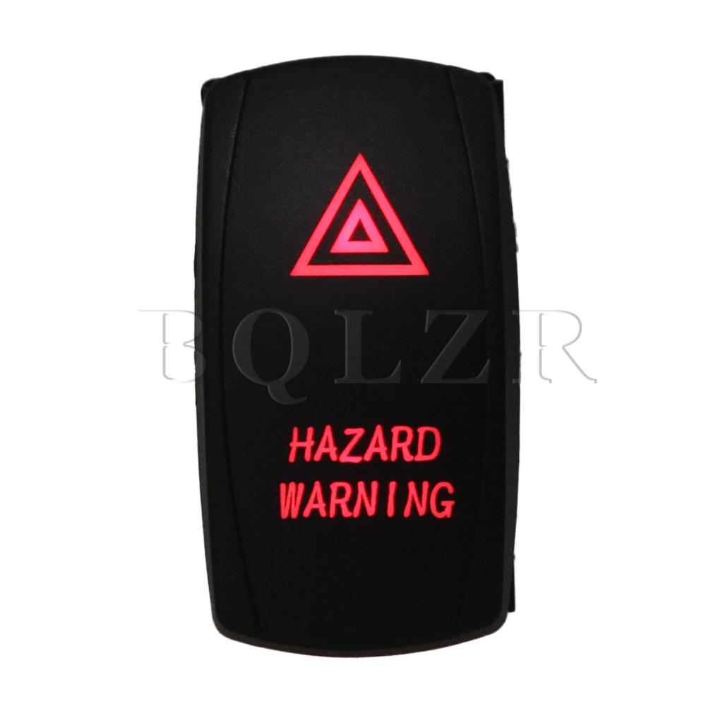 BQLZR 5pin Waterproof IP68 Red ON-OFF Rocker Switch for DC12-24V Car Boat on the open shanghai wing star ship switch kcd6 21n f ip65 waterproof switch 6a 4 foot red 220v