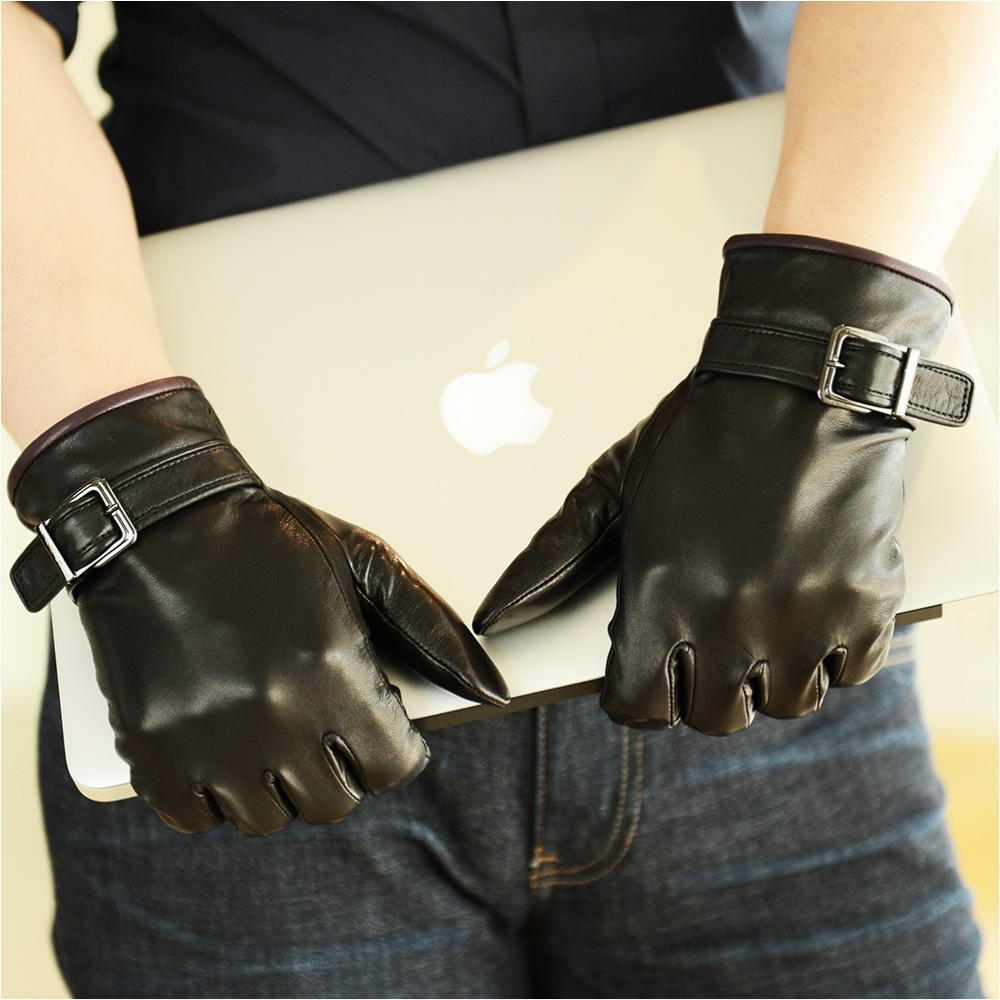 Motorcycle gloves thin - Aliexpress Com Buy Male Fashion Leather Gloves Male Thin Leather Driver Gloves Sheepskin Winter Motorcycle Glove From Reliable Gloves Show Suppliers On