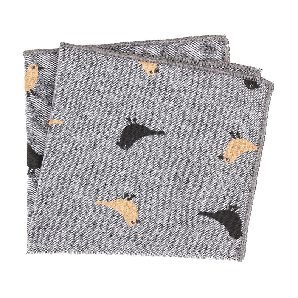 1 Pcs Fashion Western Style Men's Cotton Pocket Square Floral Handkerchief Wedding Suit Pocket Accessories