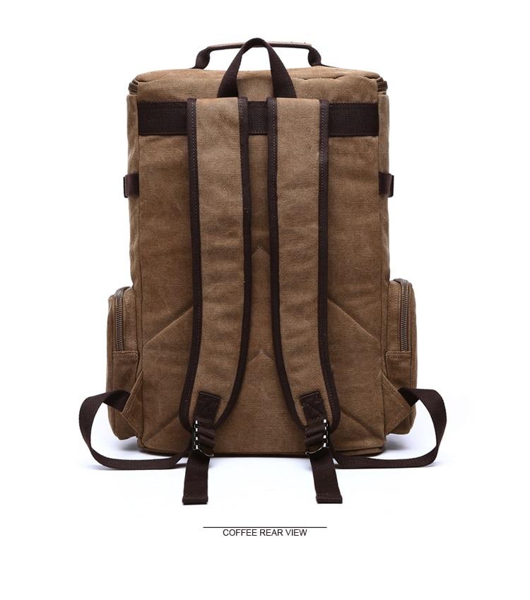 Men Laptop Backpack 15 Inch Rucksack Canvas School Bag Travel Backpacks for Teenage Male Notebook Bagpack Computer Knapsack Bags 10