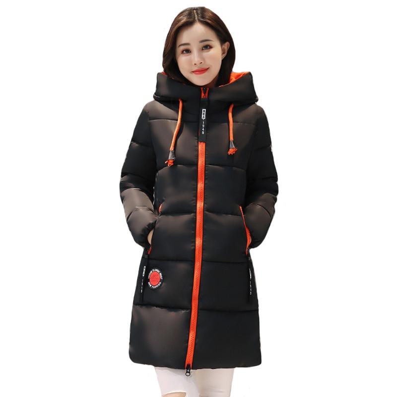2019 Winter jacket women Thick Long Womens Parkas Hooded Female Outwear Coat Cotton Padded Snow Wear Medium-Long