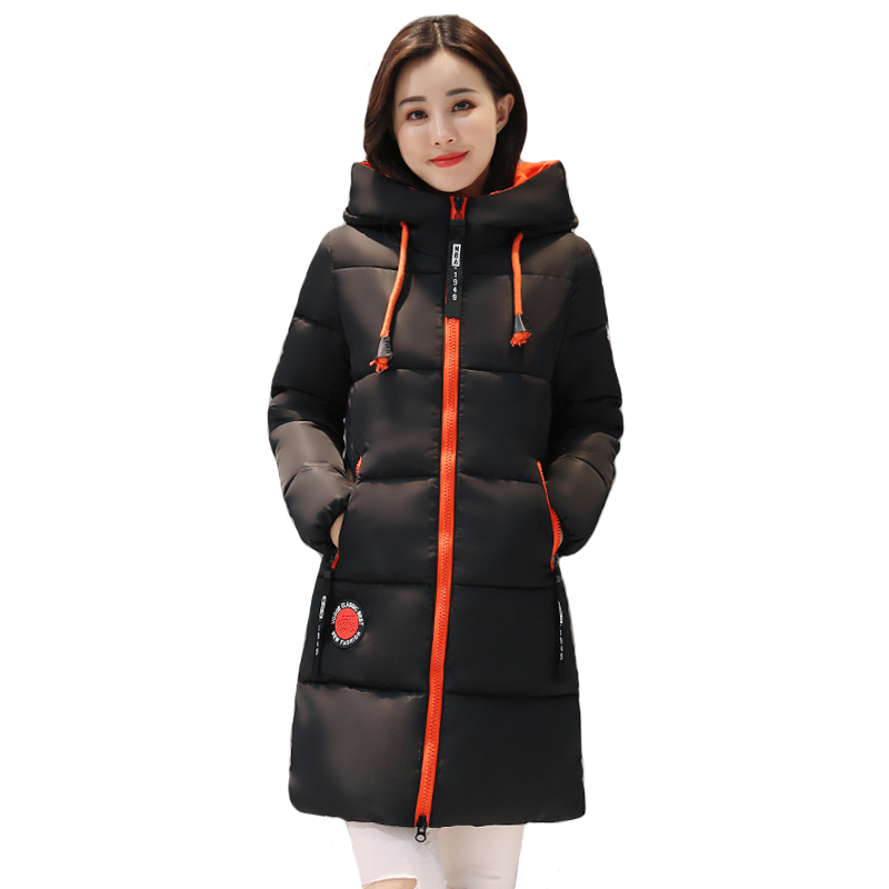 2019 Winter jacket women Thick Long Womens   Parkas   Hooded Female Outwear Coat Cotton Padded Snow Wear Medium-Long