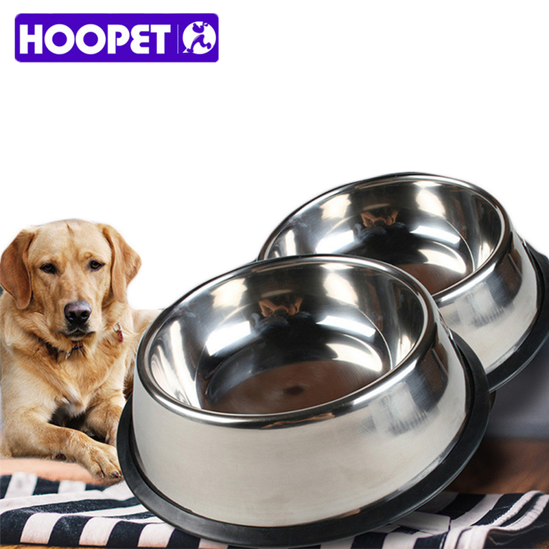 Hoopet Pet Dog Food Bowl Acero inoxidable Gran volumen Antideslizante - Productos animales