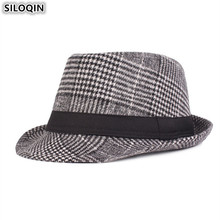 SILOQIN British Fashion Retro Mens Fedoras Hat New Winter Thick Warm Jazz Hats For Men Middle-aged Dad Snapback Cap Caps