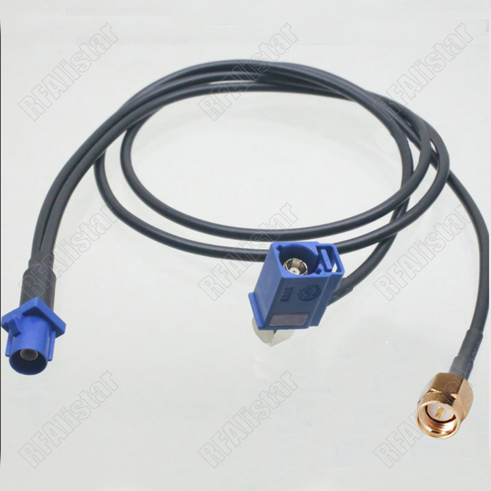 Car Digital Radio Aerial Adapter SMA Male RA to SMB Male Extension Cable DAB