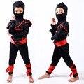 Sigilo ninja niños niño traje de samurai warrior anime cosplay fancy dress para el carnaval o fiesta de halloween vestir