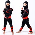 Stealth Ninja Boys Costume Child samurai warrior Anime Cosplay Fancy dress for Carnival or Halloween party dressing up