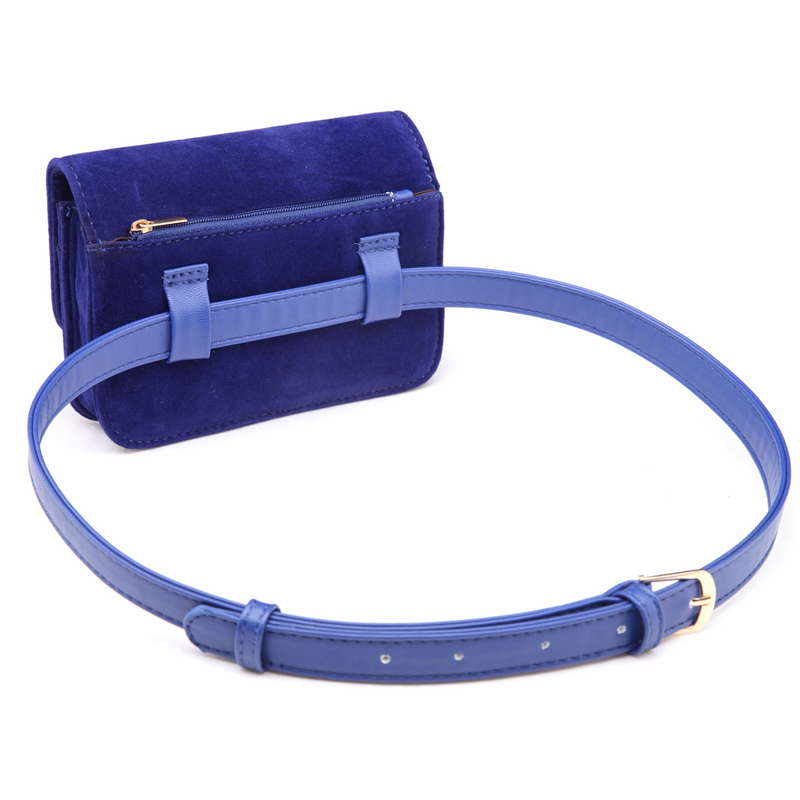 Wholesale Hot Sale Women Waist Pack Leather Belt Waist Bags Female Bum Bag Travel Pouch Pack Bolsa Mini Lady Waist Packs in Waist Packs from Luggage Bags