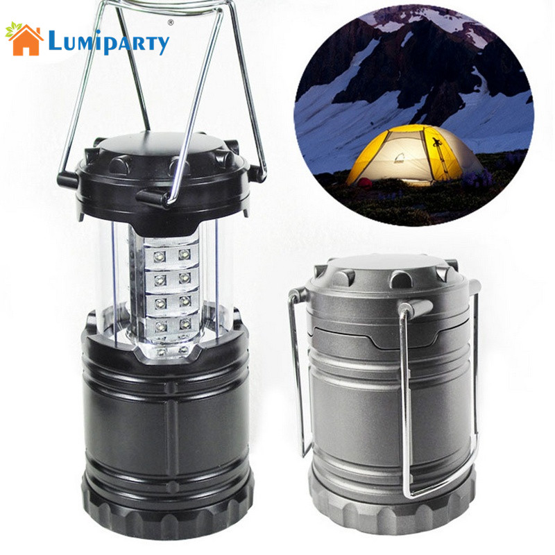 AKDSteel Black Super Bright Lightweight 30 LED Camping Lantern Outdoor Portable Lights Water Resistant Camping Lighting Lamp