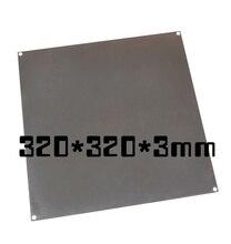 Fast Free Ship 3D Printer large size hot bed aluminum heating print platform 320*320*3mm aluminium plate