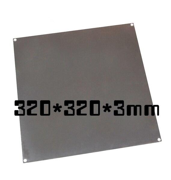 bilder für Schnelles Freies Schiff 3d-drucker größe heißer bett aluminium heizung drucken plattform 320*320*3mm aluminium platte