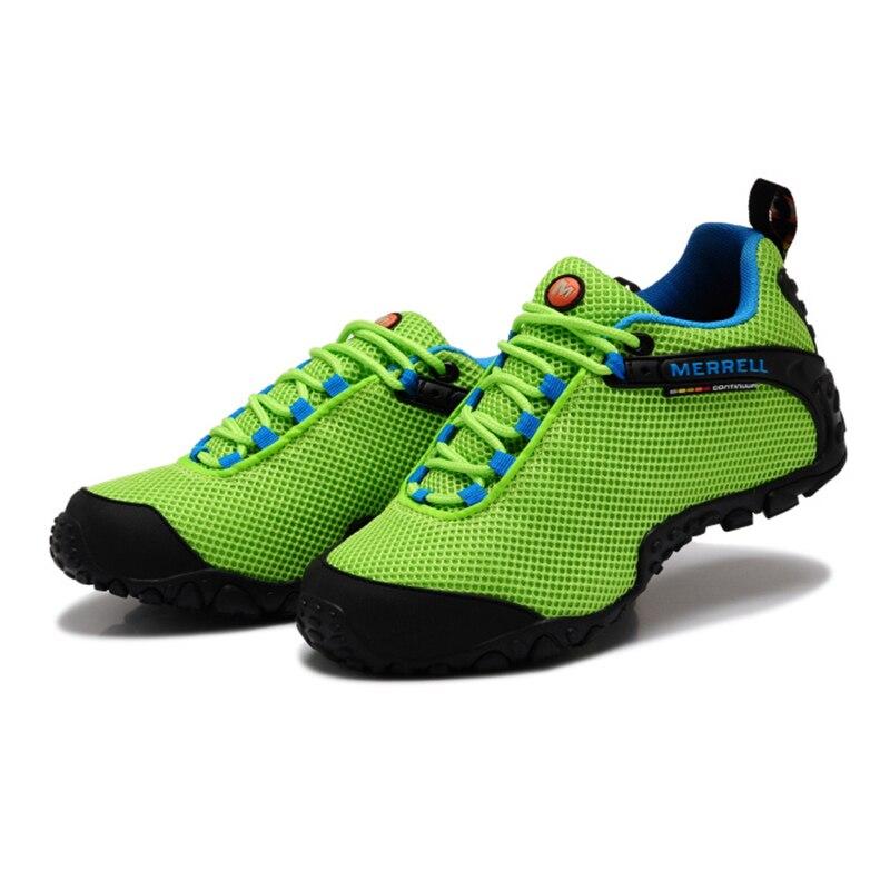 Merrell Asli wanita Bernapas Camping Terbuka Olahraga Jala Sepatu Hiking  Untuk Mountaineer Climbing Sneakers Hijau 36 39 di Hiking Shoes dari  Olahraga ... c4f1835613