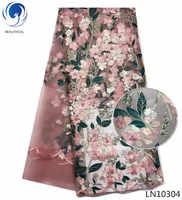BEAUTIFICAL Big verkauf französisch tüll spitze afrikanischen stoff Blume Stickerei spitze gewebe spitze stoff für kleidung LN103