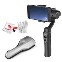 Em estoque Zhiyun Lisa Q Handheld 3-Axis Gimbal Estabilizador 2000 mAh bateria para o smartphone iphone 7 plus 6 plus samsung s7 S6