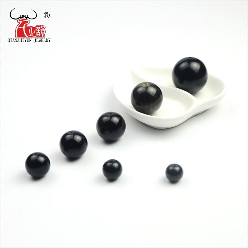 Beads Round Necklace Hand-Chain-Beads Buffalo-Horn Prayer Bracelet.-Hole 20PCS Black