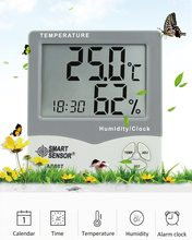 цена на Smart Sensor AS807 Digital Hygrometer Thermometer Humidity Temperature Meter Tester Weather Station with Calendar & Clock Alarm