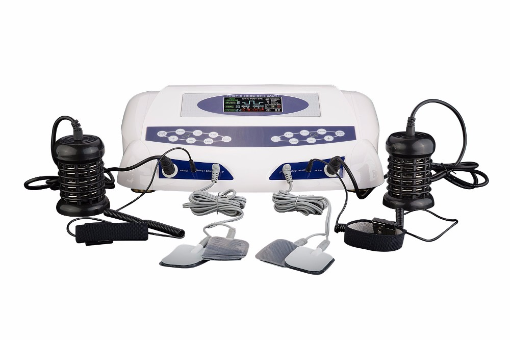 Ionic Detox Foot Spa AH-805C Single Screen Display Two persons Detox Foot Spa Machine Ion Cleansing with Dual Massager Slippers ah 805d dual person ion cleansing machine detox foot spa dual screen with massage slipper slice wrist belt foot bath spa