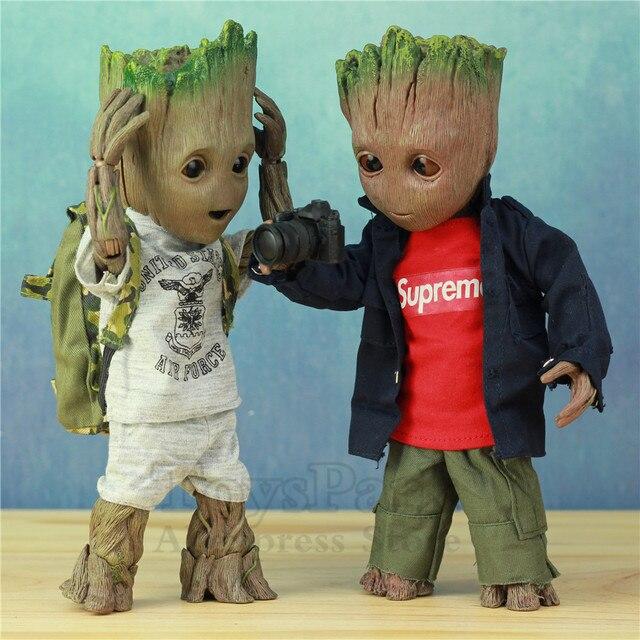 Tamanho natural 1:1 Marvel Guardians Of The Galaxy Vingadores Bonito Do Bebê Árvore Jovem Homem BJD 25 CENTÍMETROS Action Figure KO brinquedos HT Quentes das Lendas