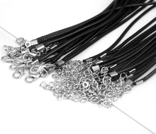 20pcs 45/60cm Adjustable DIY Handmade Leather Braided Rope Necklaces & Pendant Charms Findings Lobster Clasp String Cord