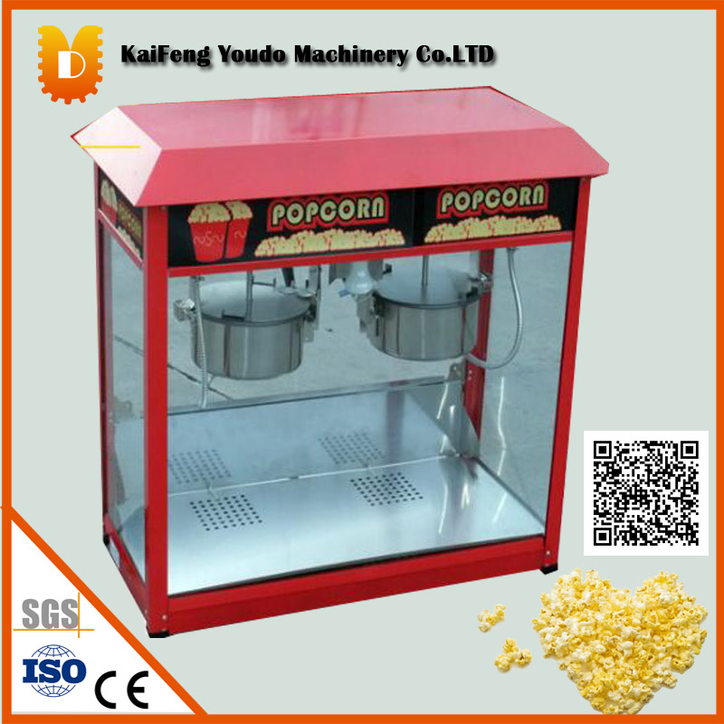 High capacity popcorn making machine/The double pan popcorn maker/commercal popcorn popper