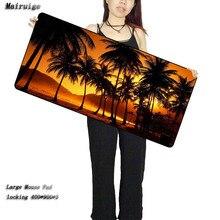 лучшая цена Mairuige The Evening Trees Landscape Game BIG SIZE 300*800*2MM Rubber Game Mouse Pad Laptop Computer Mat Large Mat Anti-Slip